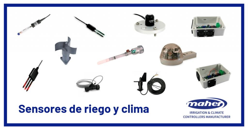 sensores de riego y clima