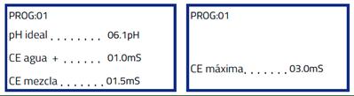 Programa de fertirrigación con mezcla de aguas con distintas CE