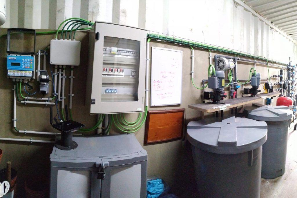 equipo de riego automatizado
